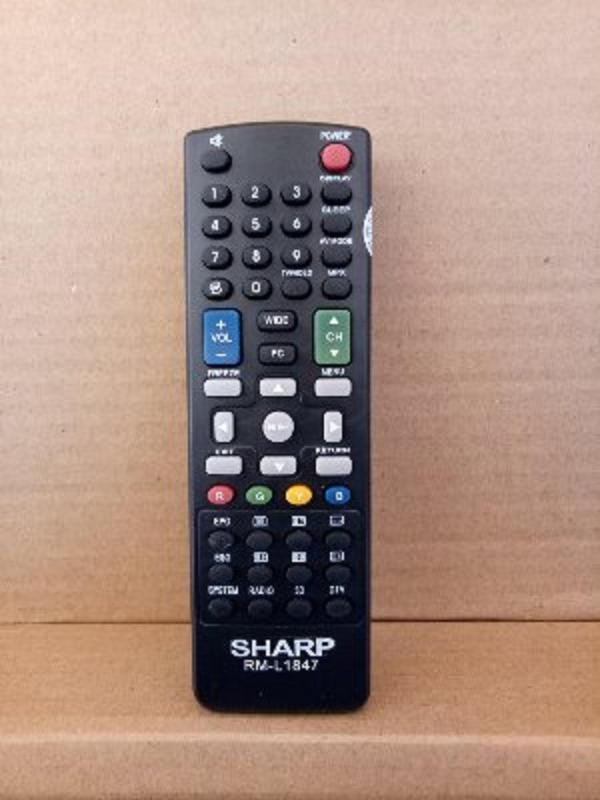 Sharp Remote Control Tv LCD LED Sharp Aquos - Hitam
