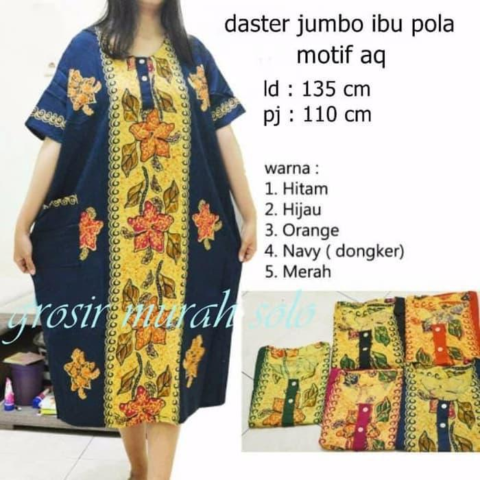 Termurah Daster Jumbo Pola Baju Tidur Santai Dress Bunga Batik