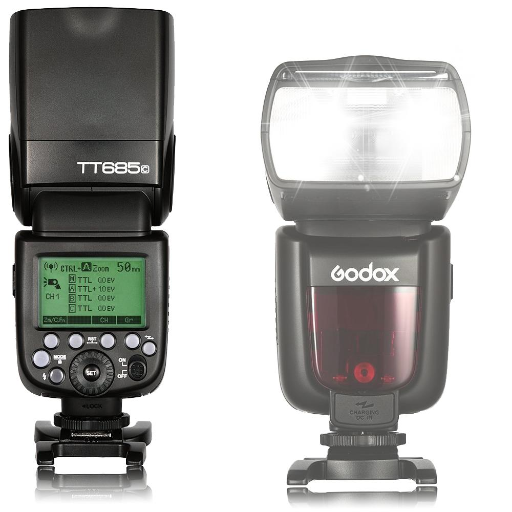 Godox TT685 TT685C 2.4G HSS 1/8000s E-TTL GN60 TTL Wireless Flash Speedlite compatible with Canon camera EOS 400D Digital 450D 500D 550D 600D 650D 1000D 1100D 30D 40D 50D 60D 5D Mark II 5D Mark III