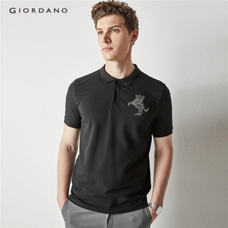Giordano Men Napoleon embroidery polo 01018210