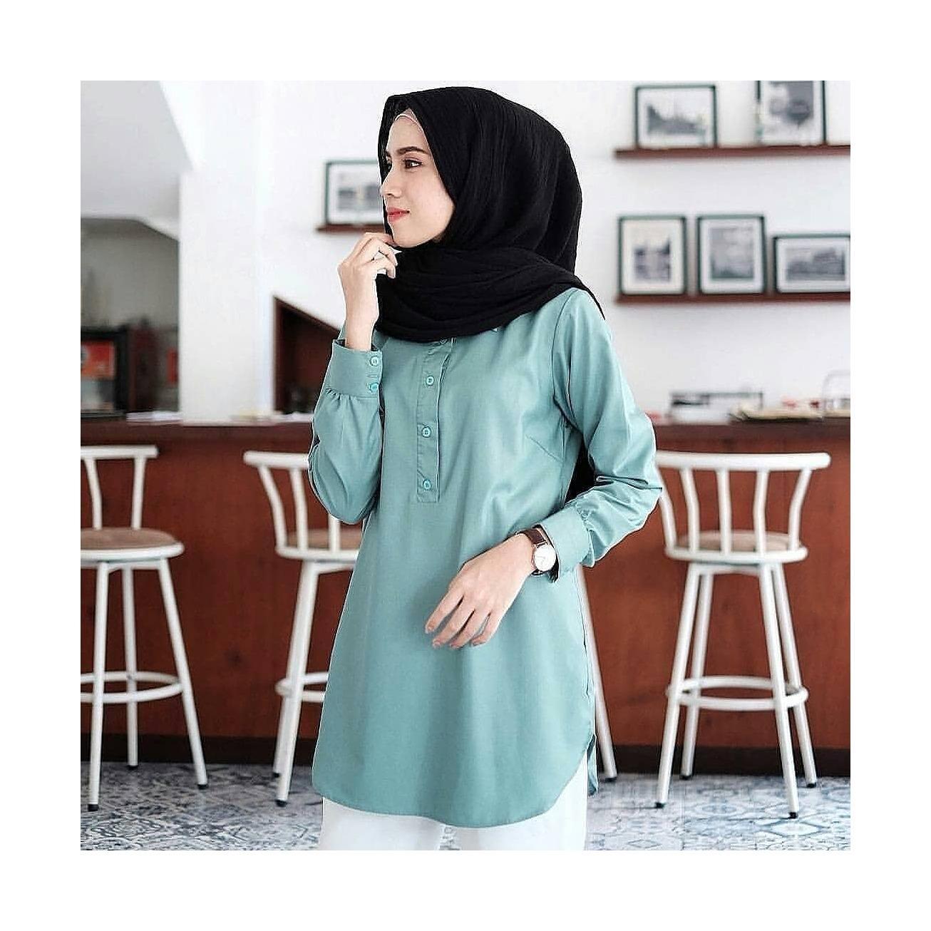 """Blouse """"SF DAILY"""" Baju Panjang Muslim Hijab Moderen Pakaian Trand Baru 2018"""
