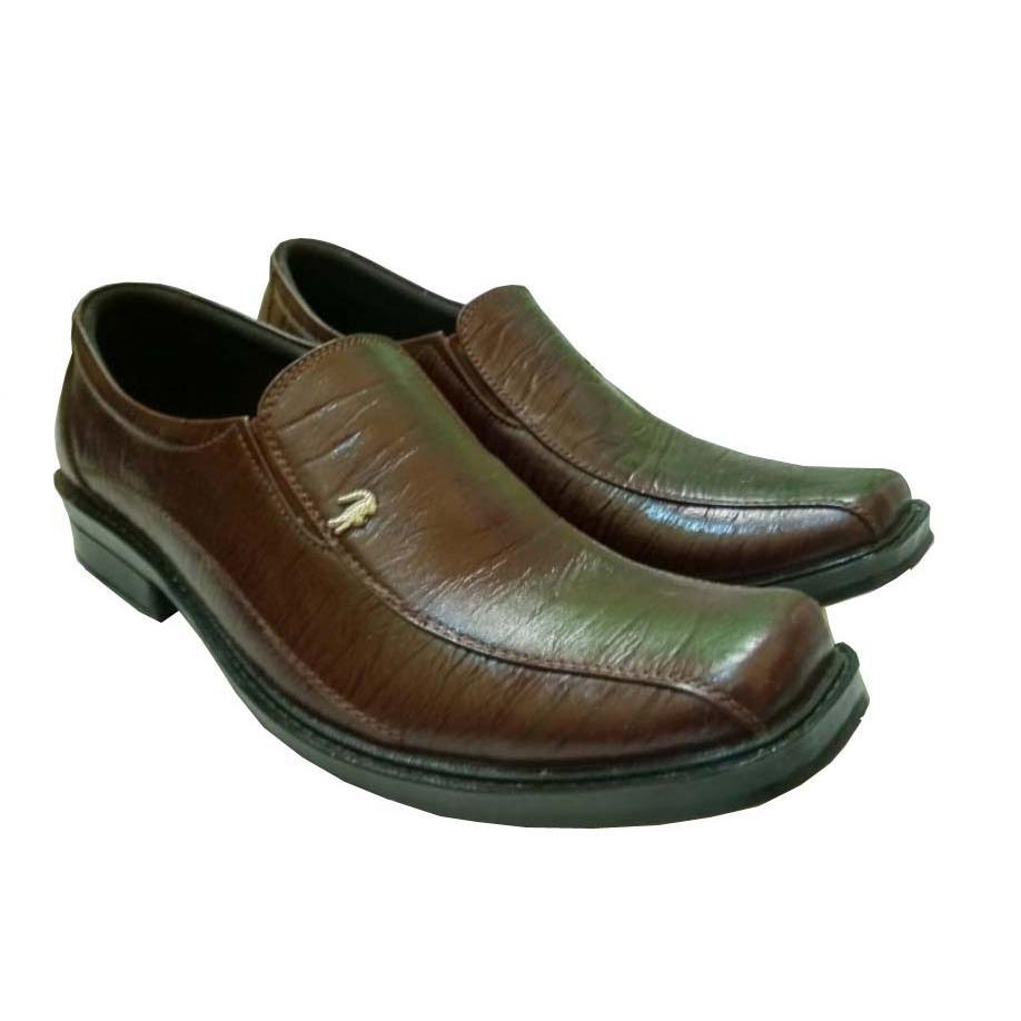 Sepatu Pantofel Crocodile 100% Kulit Sapi