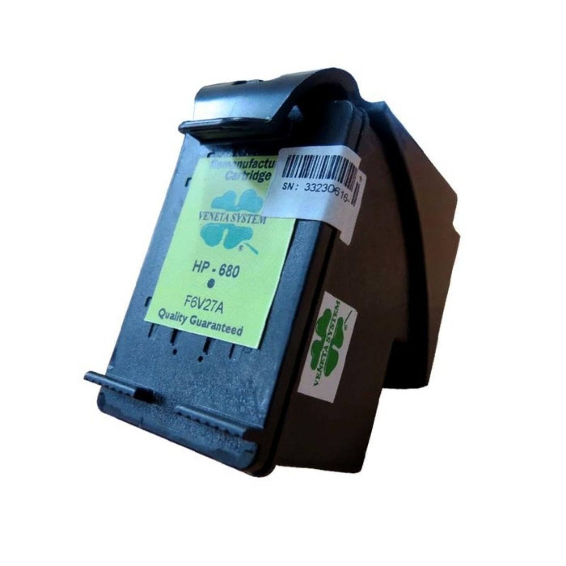 Veneta System - Cartridge HP680 (F6V27A) - Remanufactured - Black