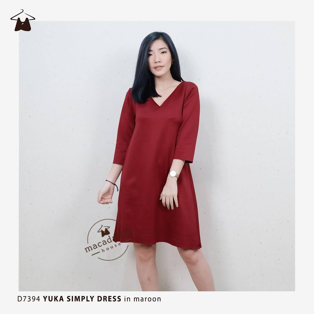 ... Blouse Korea   Atasan Wanita   Baju. Source · Macadamia House - D7394  YUKA SIMPLY DRESS - Dress Modern Simple Kantor Kuliah Wanita d033753cef