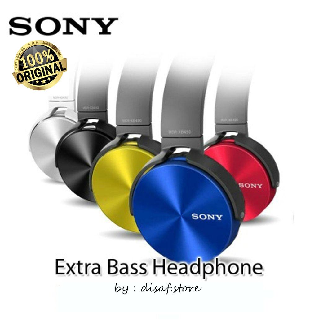 Sony Extra Bass Stereo Headphones Handsfree Headset Free Phone Calls - MDR-XB450AP - Original 100%