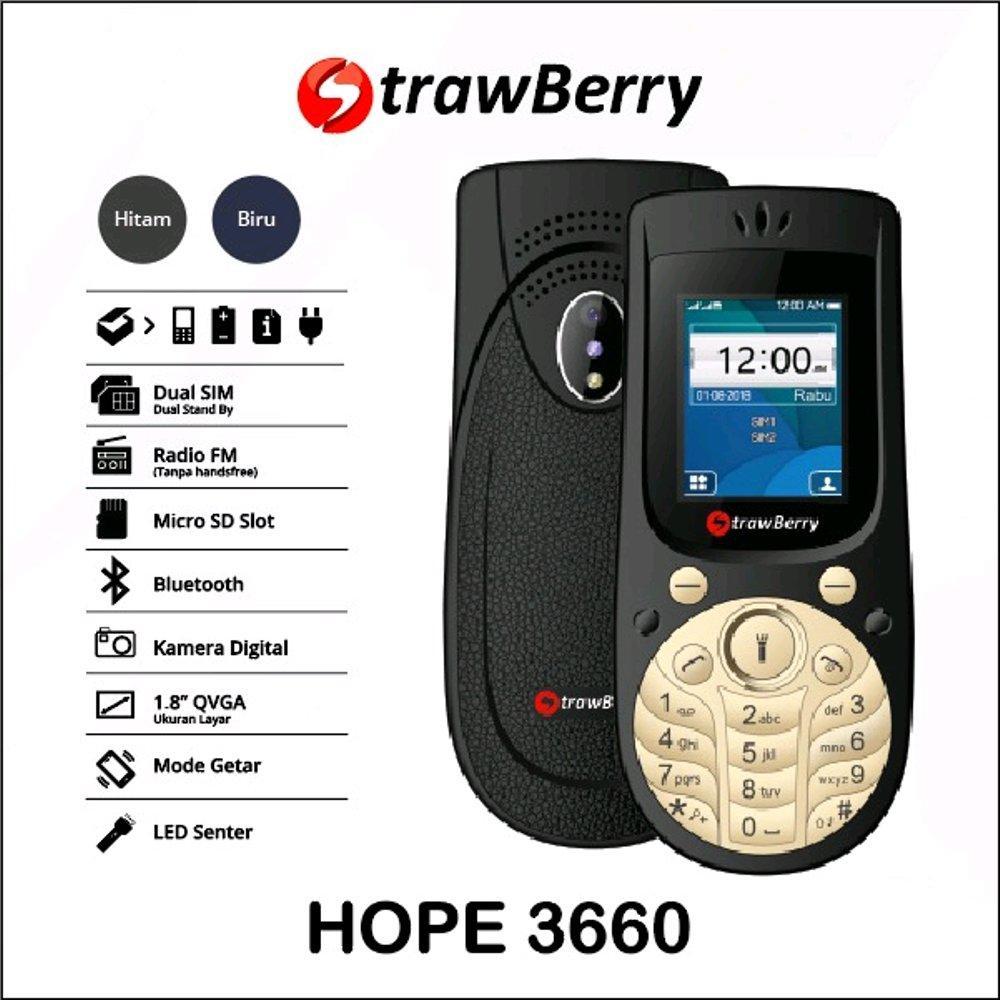 Strawberry HOPE 3660 Model Mirip Nokia 3660  - dual sim - Radio FM / Hp unik / hp murah