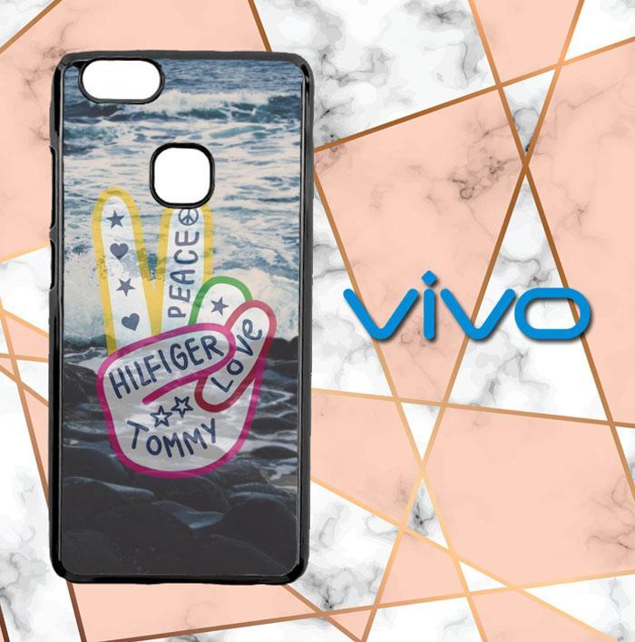 Tommy Hilfiger Peace Tumblr H0045 Casing Custom Hardcase Vivo V7 Plus Case Cover