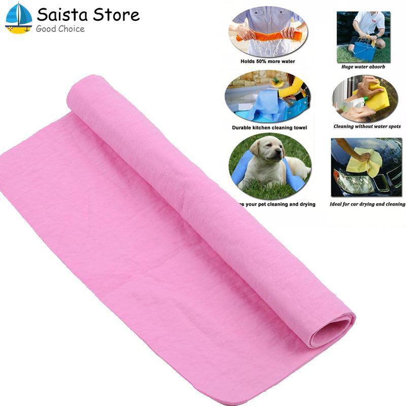 Car Wash Absorbent Drying Towel Rag Cleaning Cloth Care Tool 39x32CM PVA