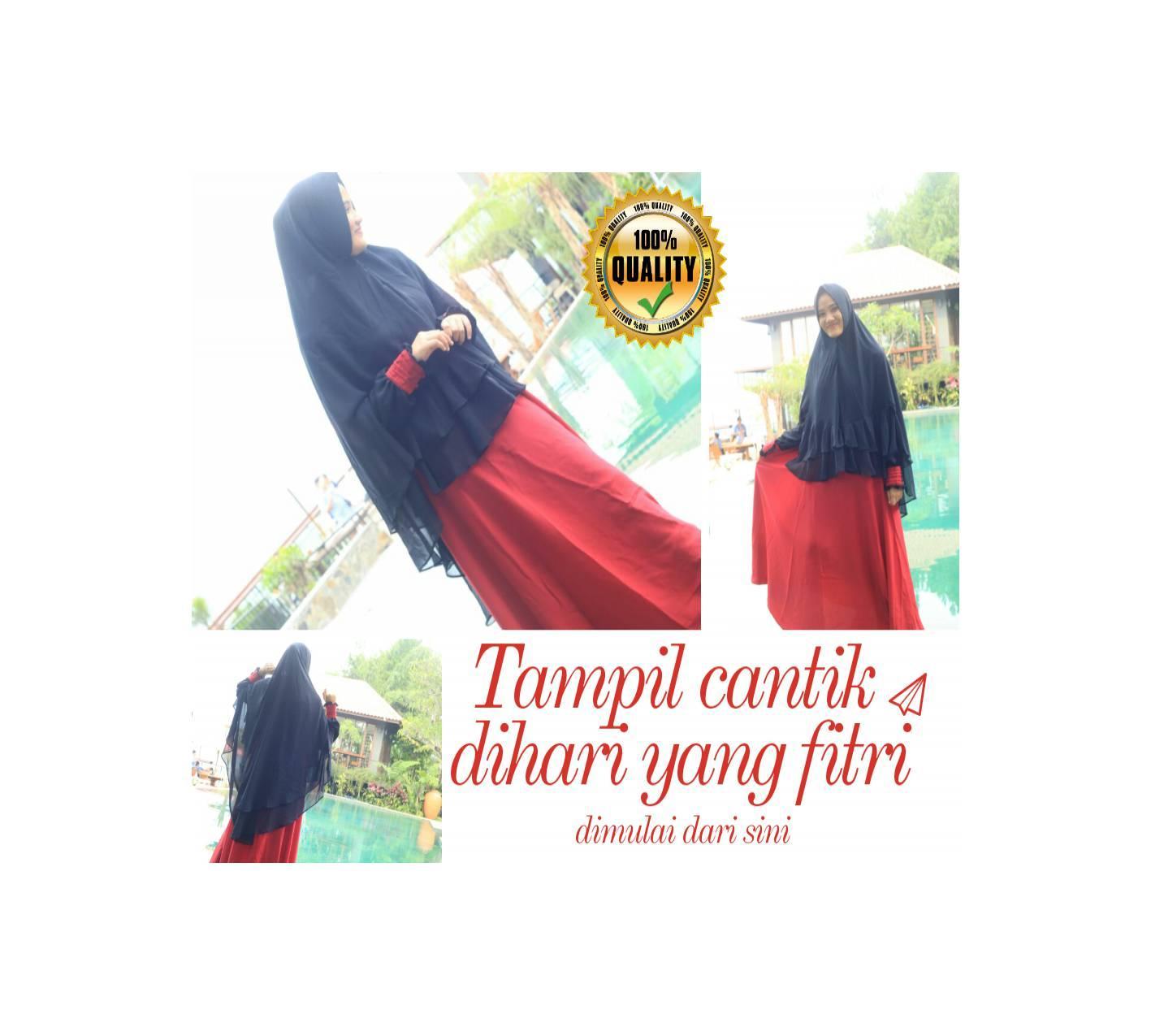 Gamis muslimah syar'i/baju muslimah trendy/cocok untuk lebaran