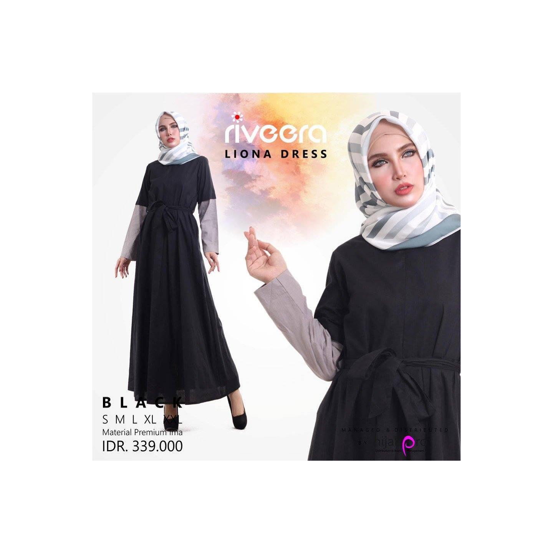 Dress (Gamis) Liona Riveera Bahan Katun Ima Mewah & Busui Friendly