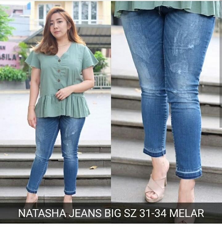 Celana panjang jeans sobek skinny ripped Jumbo Bigsize Brave Jeans
