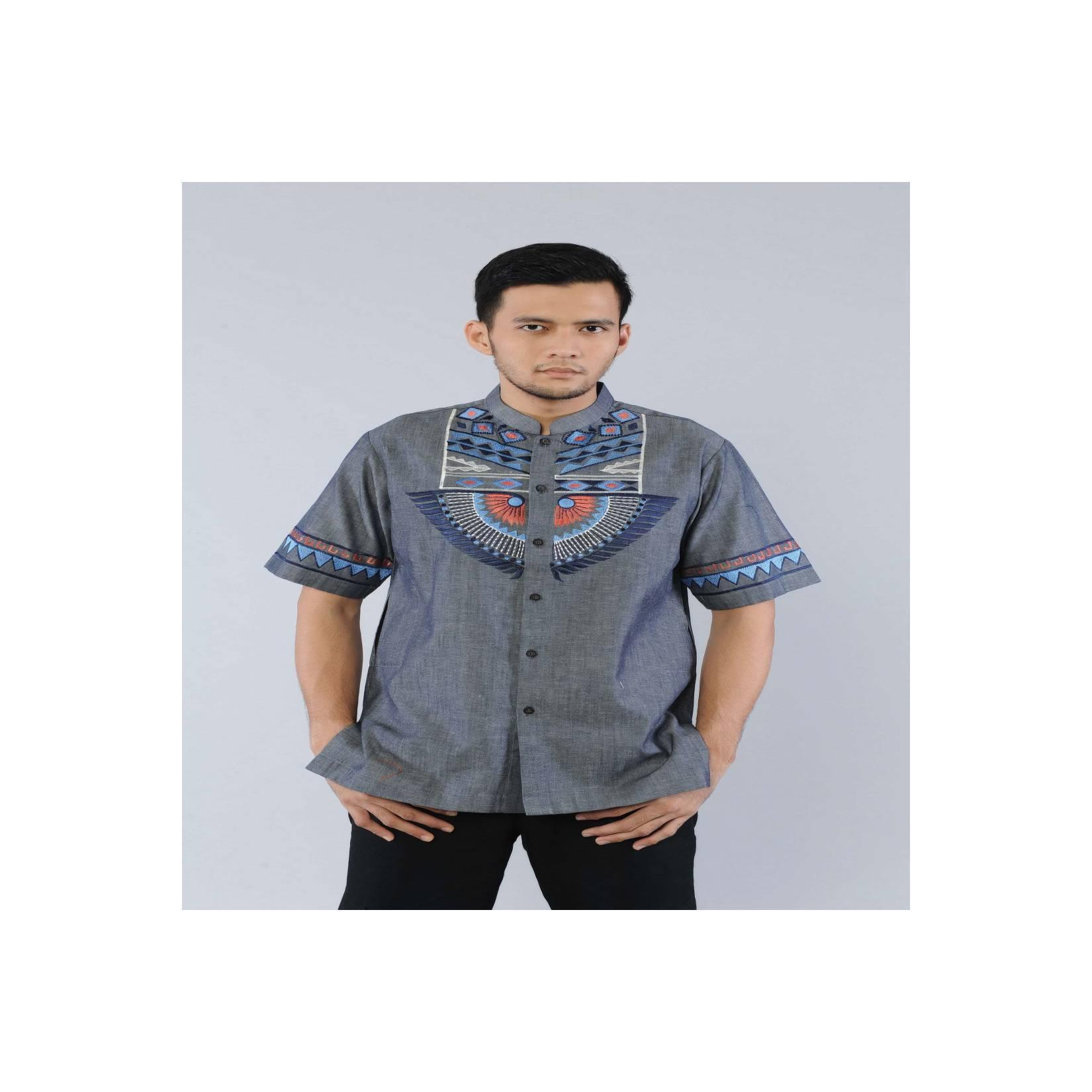 Suplier baju koko lengan pendek modern bordir mewah preview itang yuna