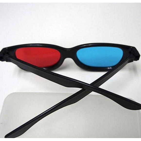 GRATIS ! 3D Glasses Plastic Frame Kacamata 3D - H3 Merah Biru Film 4D Movie HD