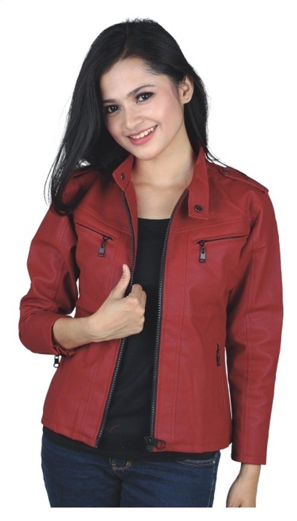 Promo jaket motor wanita /jaket sintetis cewek/jaket kulit/ jaket semi kulit/