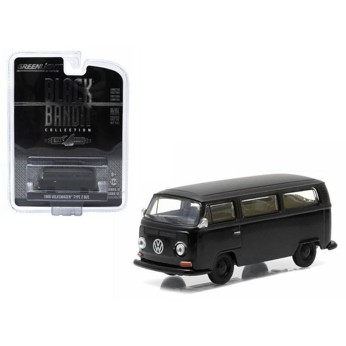 Diecast Greenlight 1968 Volkswagen Type 2 Bus Black Bandit - Ztthnv