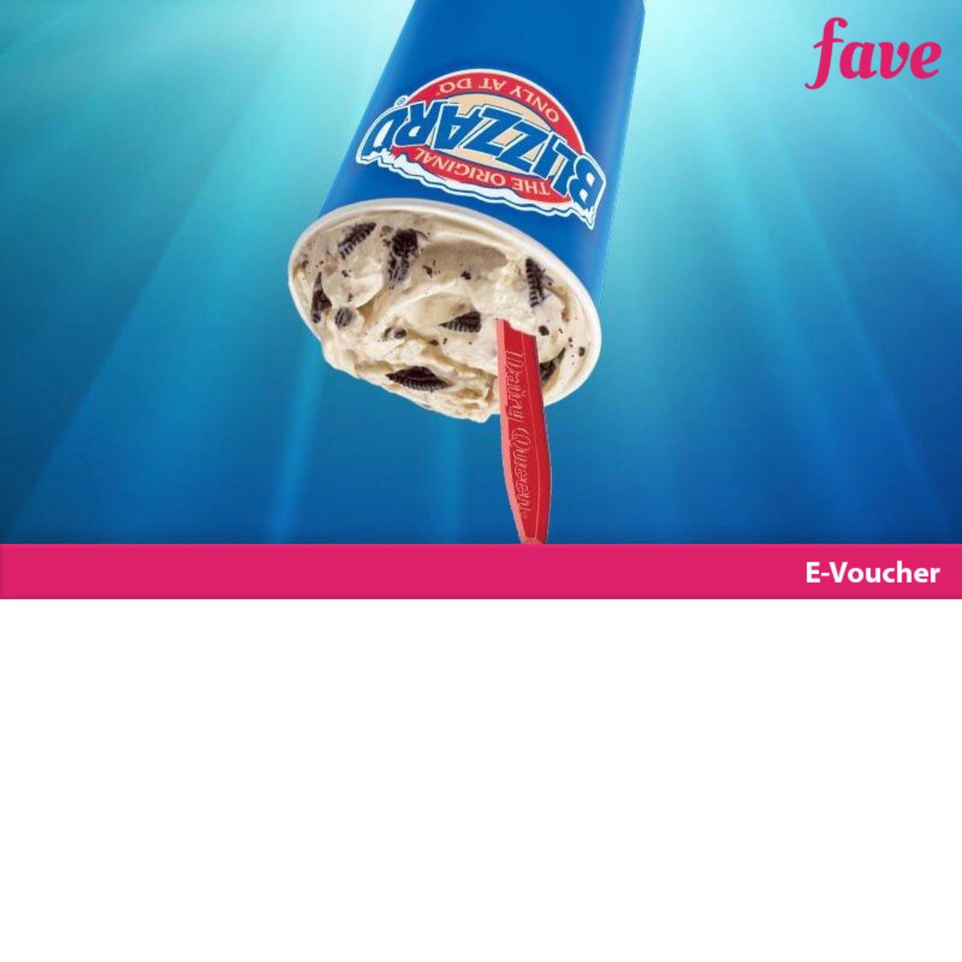 Dairy Queen [buy 1 Get 1] Buy 1 Medium Blizzard Oreo Flavor Get 1 Medium Any Flavor By Fave Indonesia.
