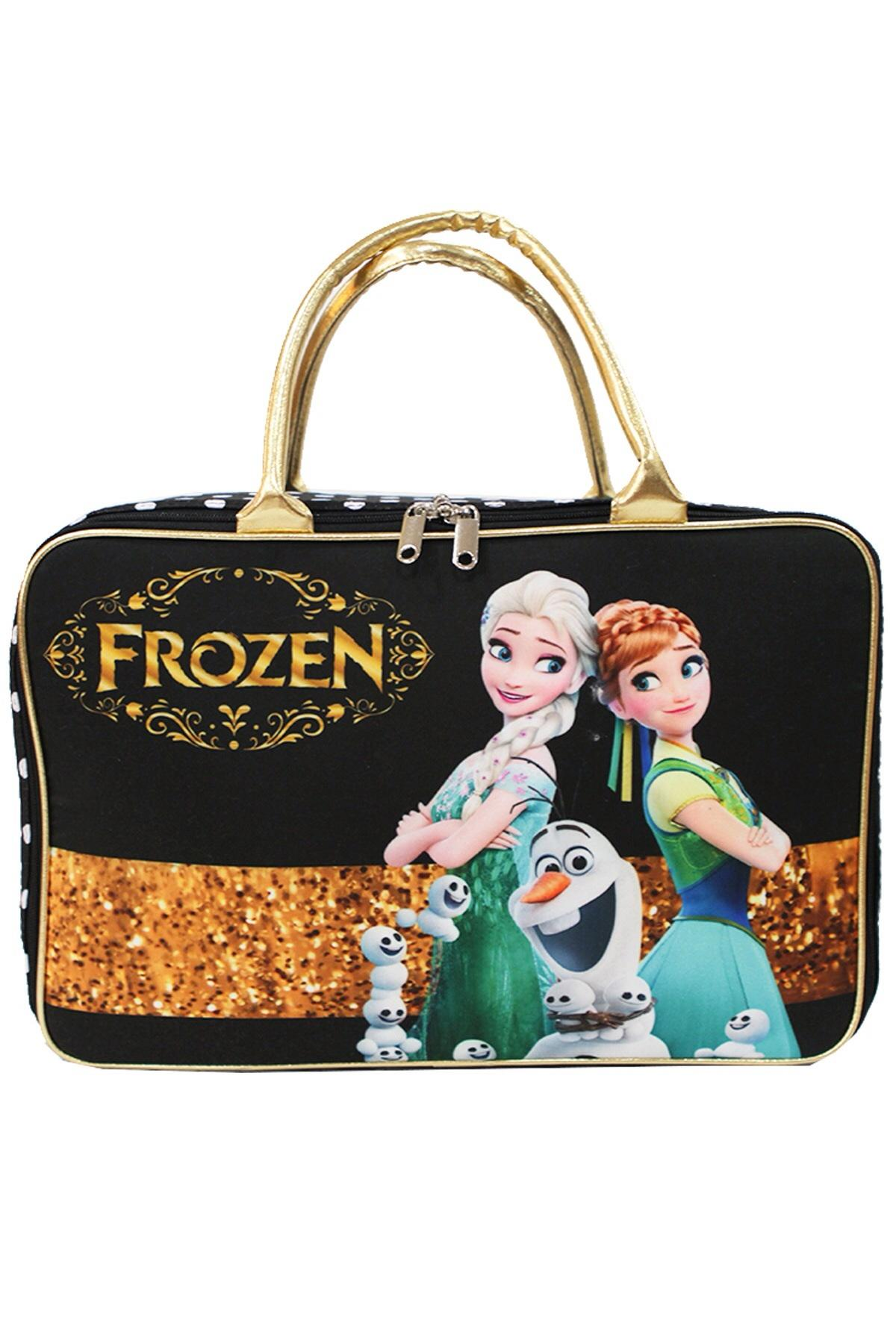 Tas Travel Bag Koper Kanvas Renang Kotak Anak Dewasa Frozen Fever Elsa