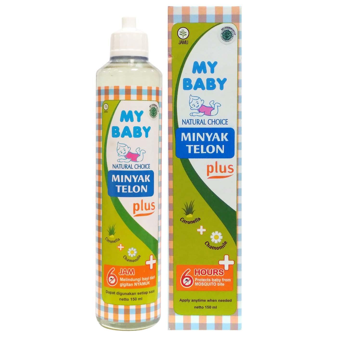 Delin Baby's - My Baby Minyak Telon Plus 150 ml 1 Botol / Perut Kembung Bayi / Minyak Urut Bayi / Obat Masuk Angin Bayi