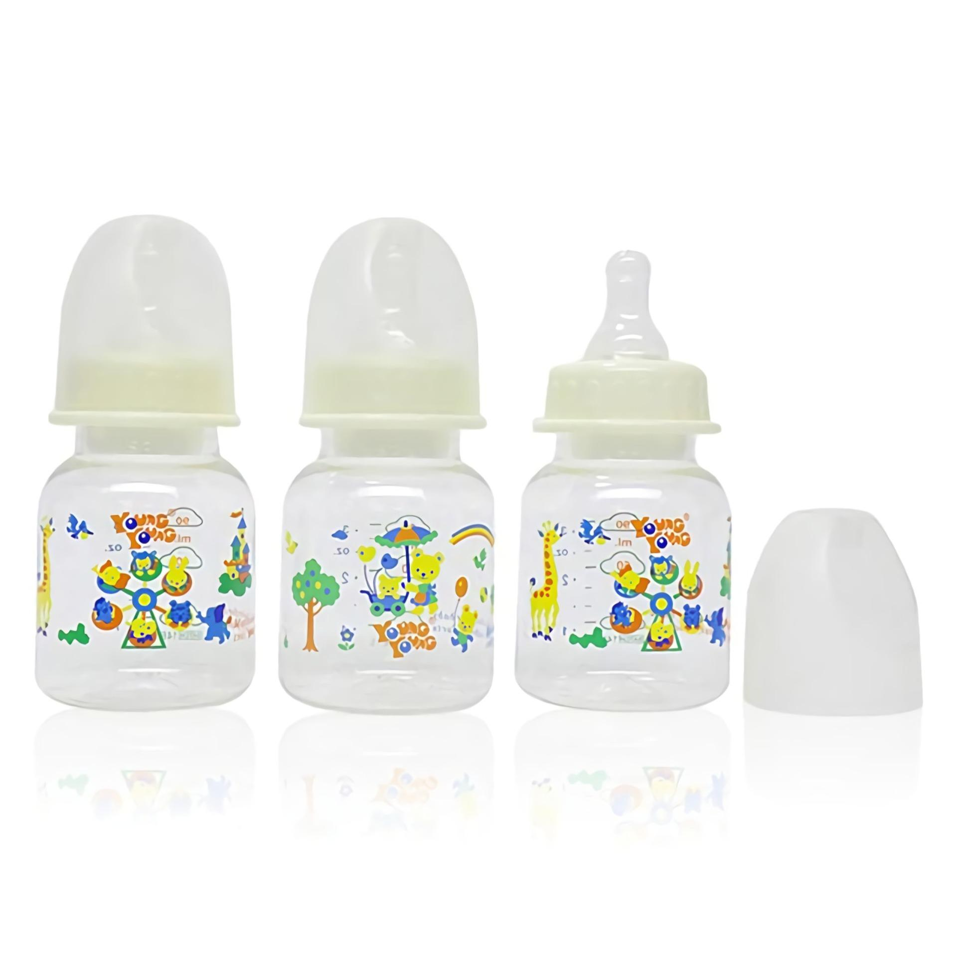 Young Young Botol Susu IL-COMBO-3PCS-YY-808 Baby Bottle 90