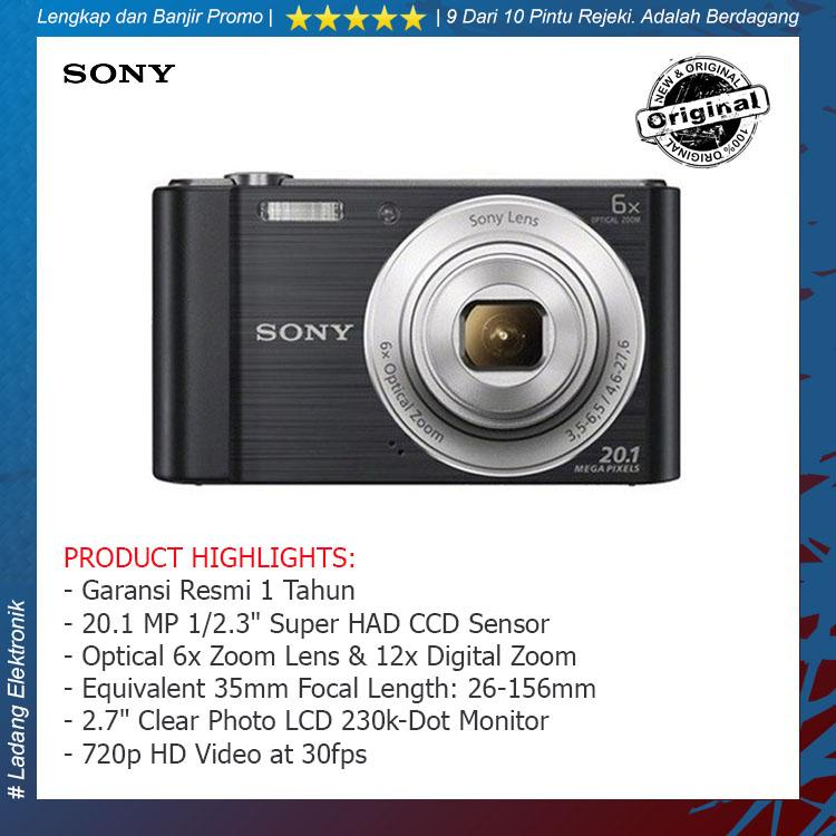 Sony CyberShot W810 Silver Kamera Pocket / Garansi Resmi 1 Tahun