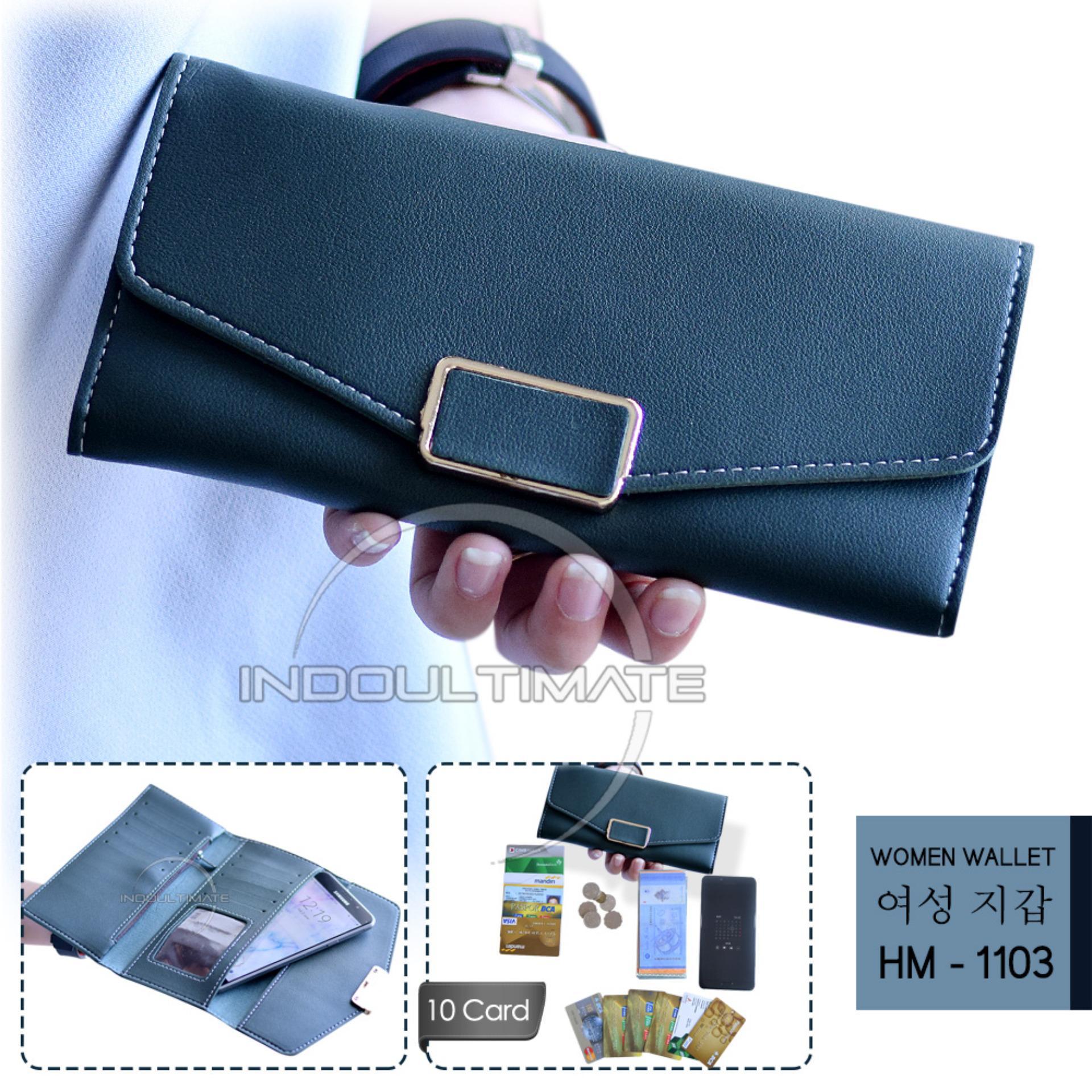 Ultimate Dompet Wanita DY-1101 - Green   Dompet Cewek   Cewe Kartu ATM  Panjang aa7dc708e2