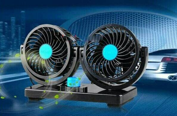 [ GARANSI 100% ] Kipas Angin Mobil Di Lighter 12v Colok Rokok / Fan Double Blower @ kipas angin mini / kipas angin dinding / kipas angin portable / kipas angin ac / kipas angin berdiri/ kipas angin gantung cosmos model ac miyako kecil