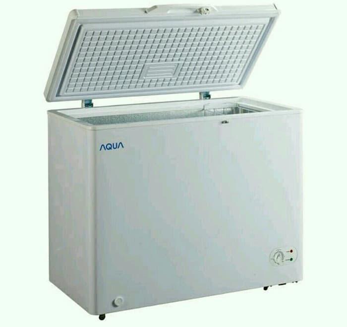HARGA PROMO!!! Chest Freezer Aqua Sanyo 200 Ltr AQF-200A - HxWHUw