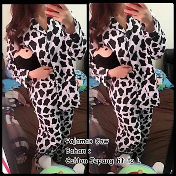 FJCO BC- Pajamas Cow PP / Piyama wanita / Baju santai / Baju tidur / Setelan tidur