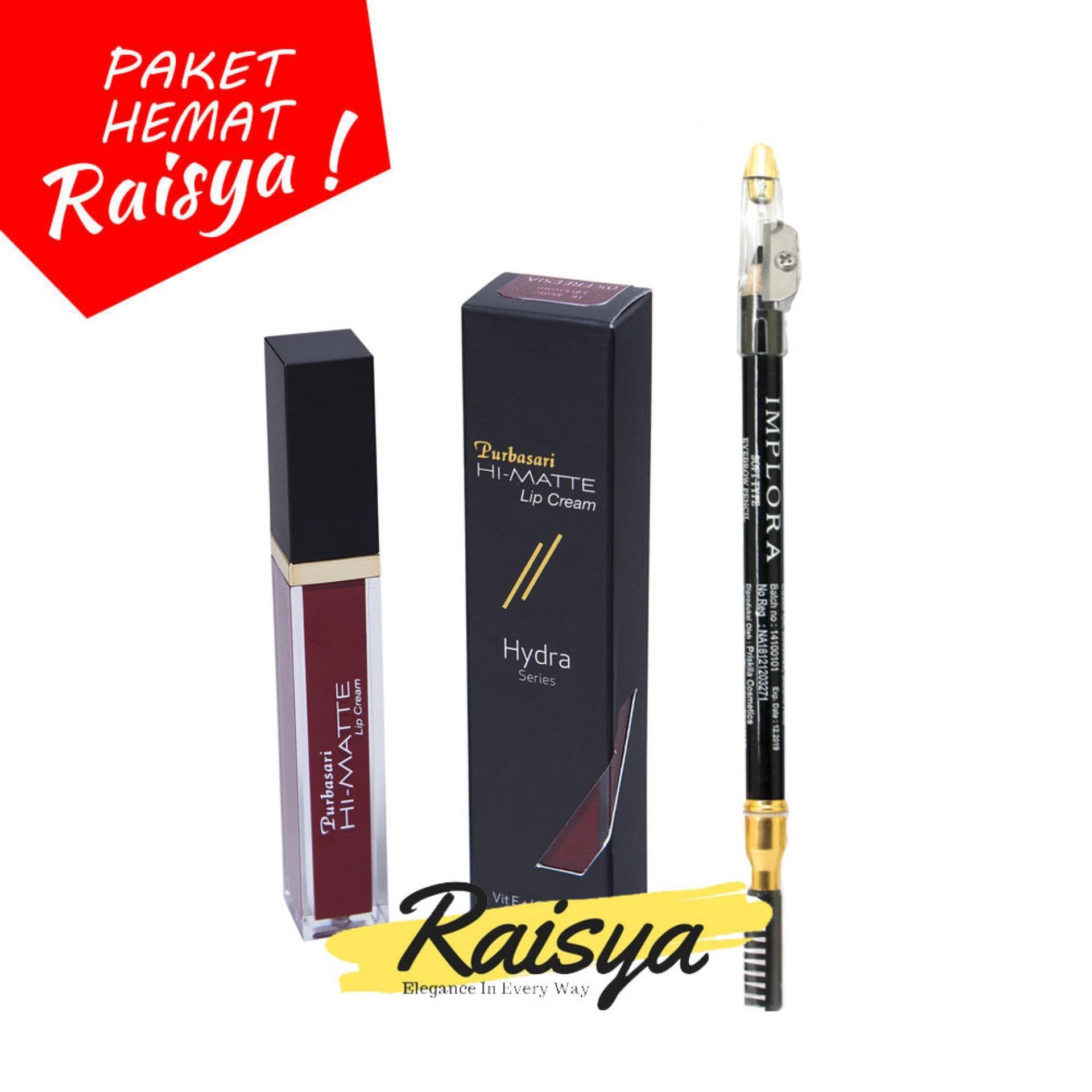 Purbasari Hi-Matte Lip Cream No. 05 Freesia Free Implora Pensil Alis Hitam Resmi BPOM