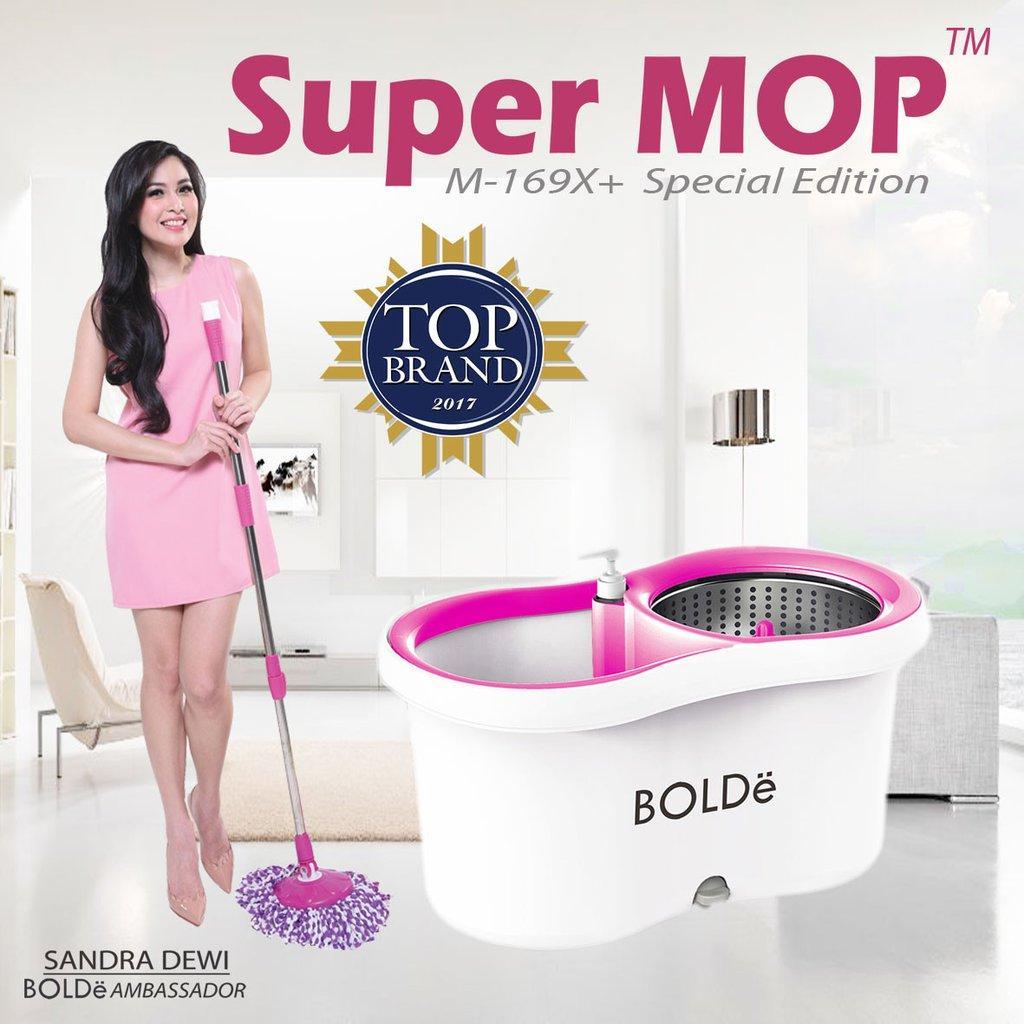 BOLDe Alat Pel Otomatis Supermop M-169x SPECIAL EDITION + Refill Microfiber & Botol Sabun