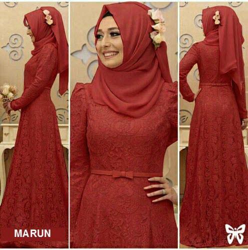 Rp 95.000. Flavia Store Maxi Dress Lengan Panjang Set 3 in 1 Brukat FS0485 - MERAH MARUN / Kebaya Modern / Gamis Syari / Gaun Pesta Muslimah / Baju Muslim ...