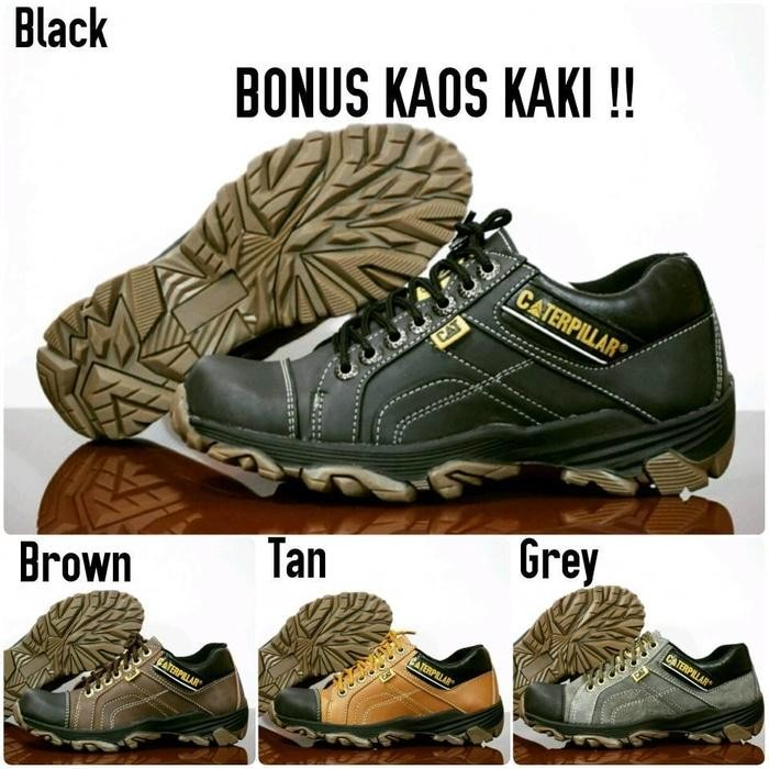 SEPATU PRIA CATERPILLAR R1 SAFETY SHOES LOW BOOTS KULIT SEMI