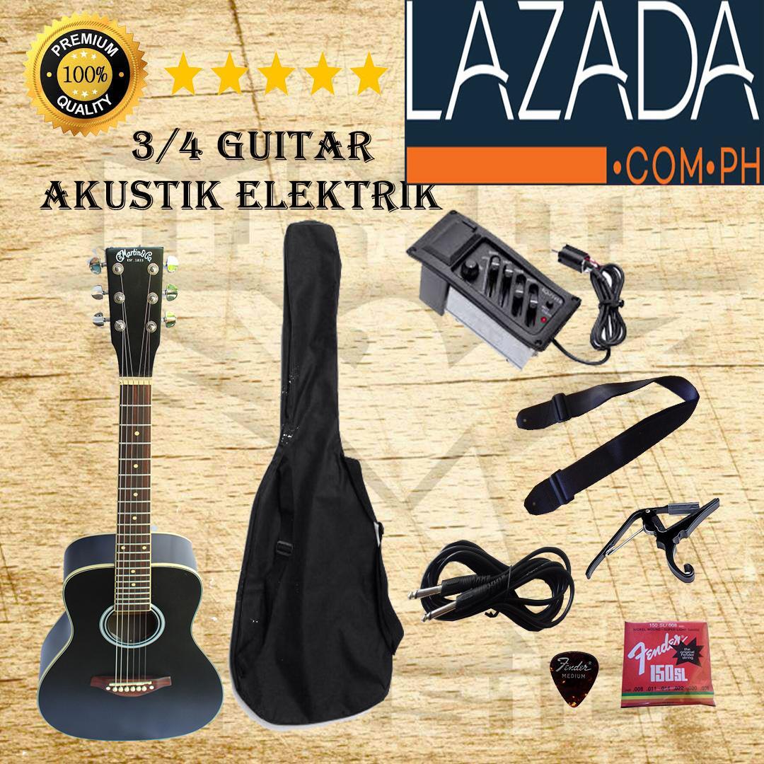 gitar akustik elektrik 3/4 martin & co