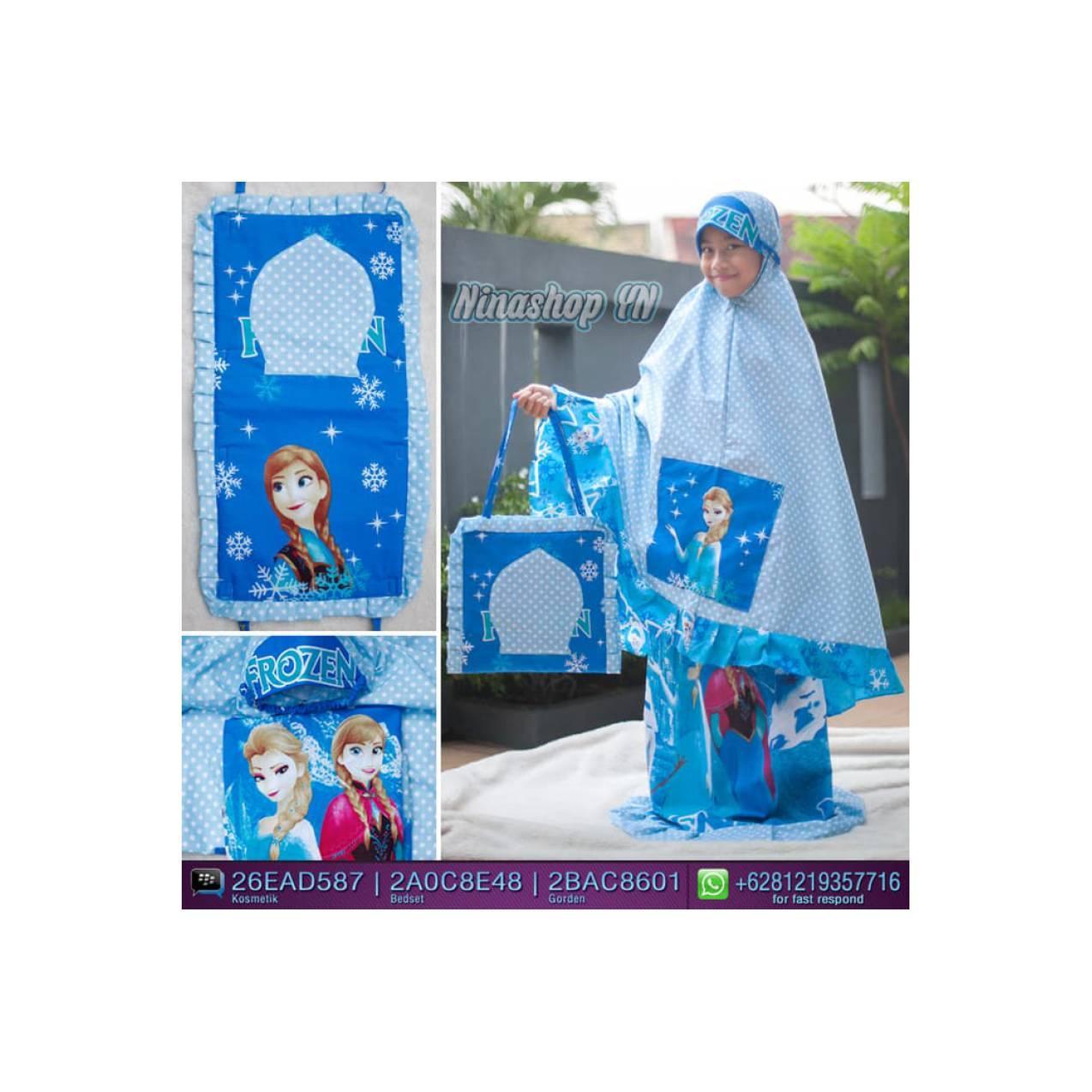 Mukenah 2018 terbaru Jual Mukena anak motif Frozen Ice