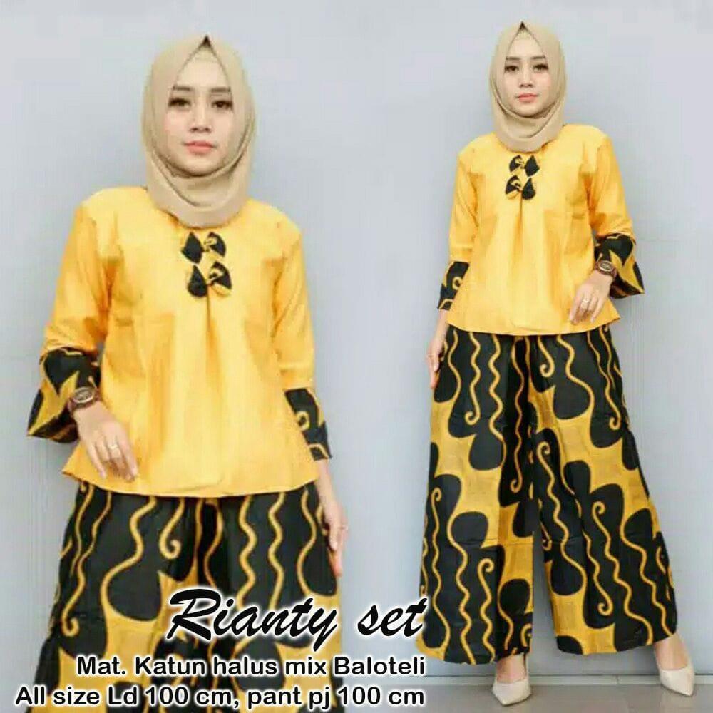 Setelan Batik Wanita   Stelan Muslim Murah   Stelan Kulot Muslim   Baju  Batik   Baju cfc195f394