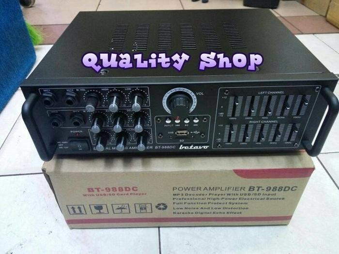 ORIGINALS  MURAH!!!! power mixer 4 channel betavo bt-988DC ( sudah ada power )
