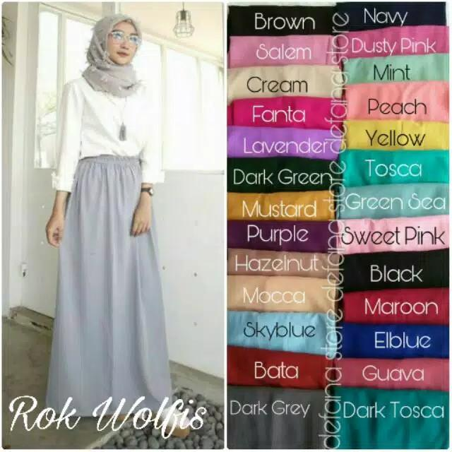 Rok Panjang Muslimah Wolfis By 3jaya Fashion