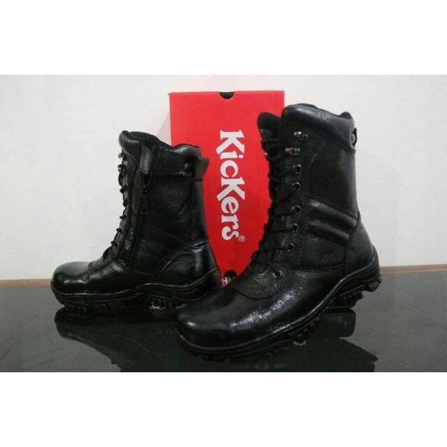 Promo Termurah Sepatu Boots PDL Kulit Kickers Safety Pria Proyek Touring Worksafe Gratis Ongkir