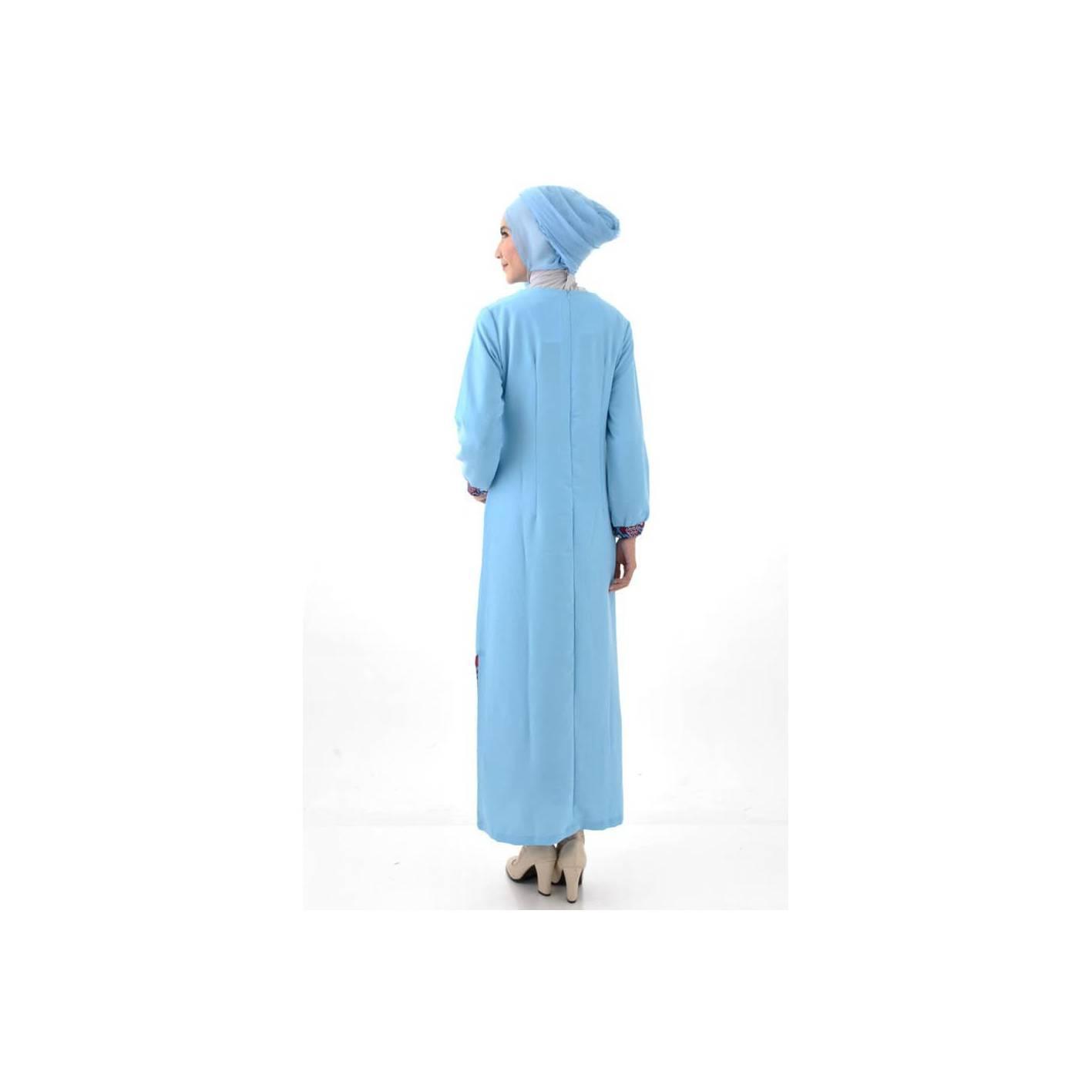 Dress muslim Gamis Batik Asmat - Rania Etnik