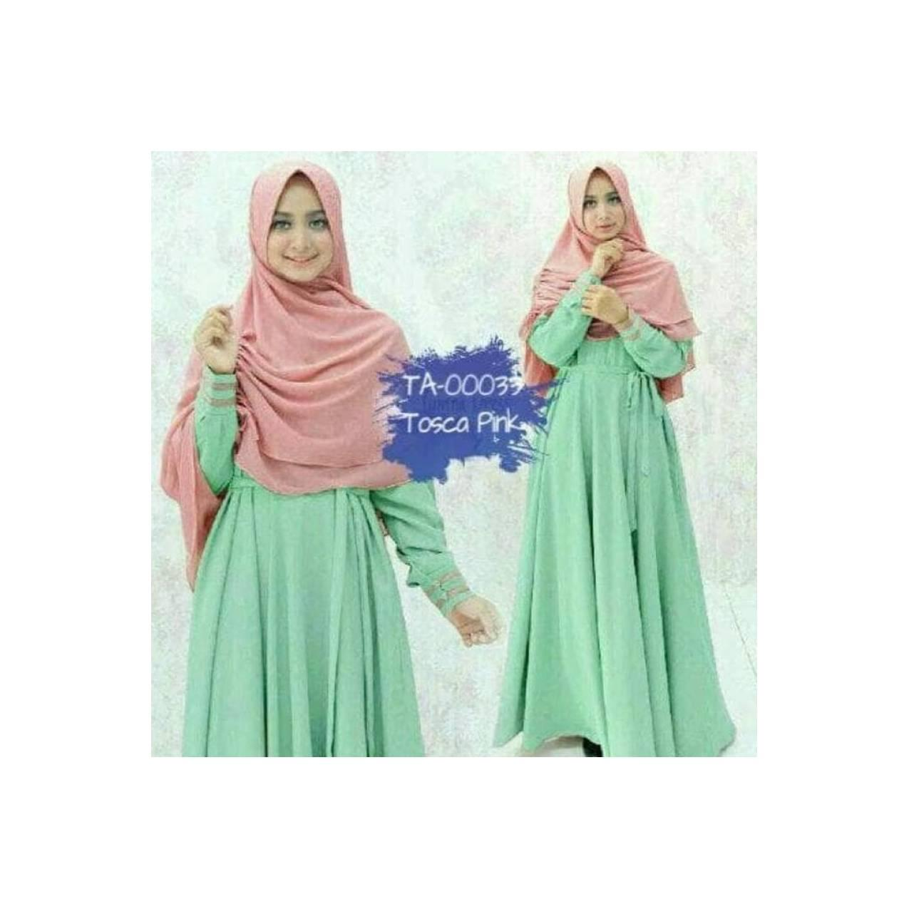 BAJU MUSLIM PESTA GAMIS YUNMINA ANEKA WARNA 3 DRESS MAXI HIJAB TRENDY