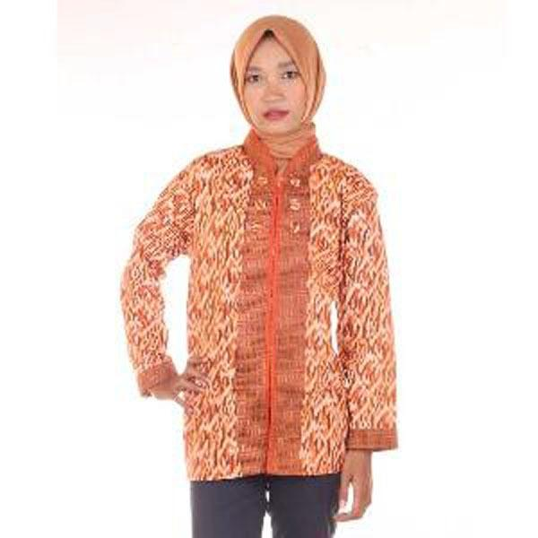 Blus Batik | Kemeja Wanita | Hem Nugi (Seragam)