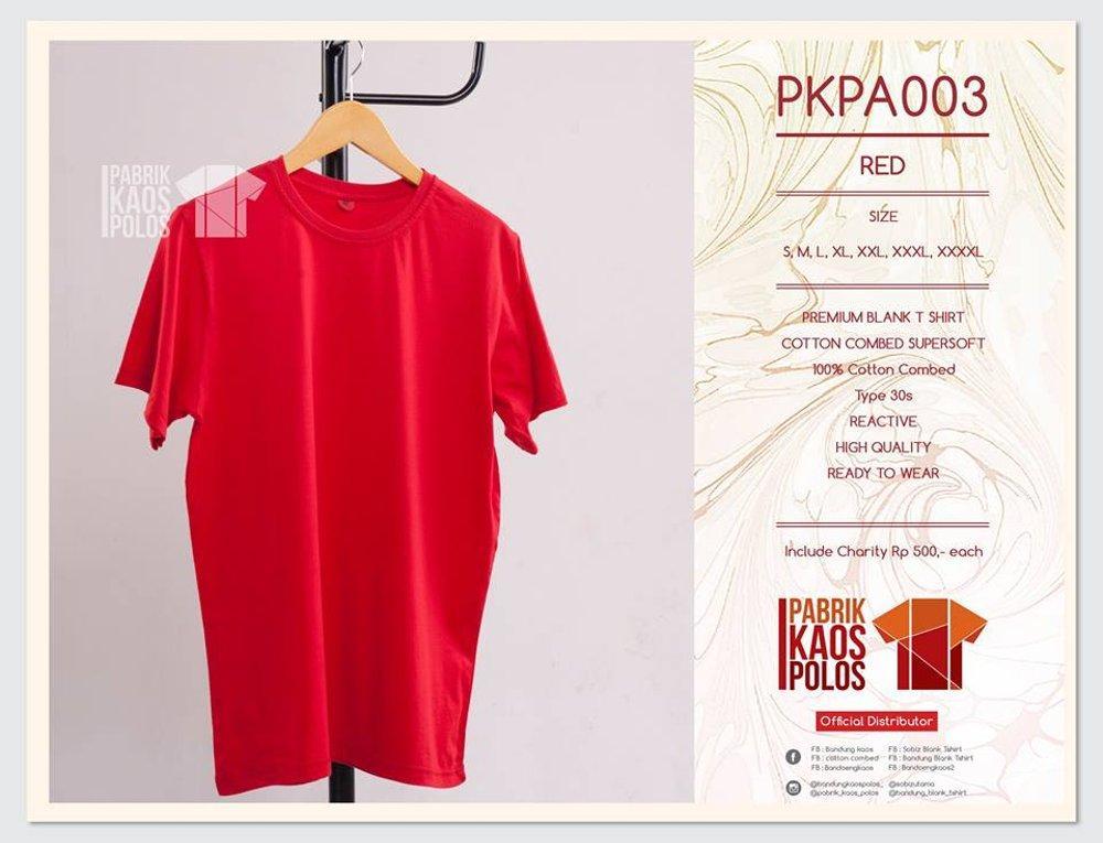 Kami jual kaos polos bahan cotton combed 30s standar DISTRO termurah di lapak Pabrik Kaos Polos bandungblanktshirt