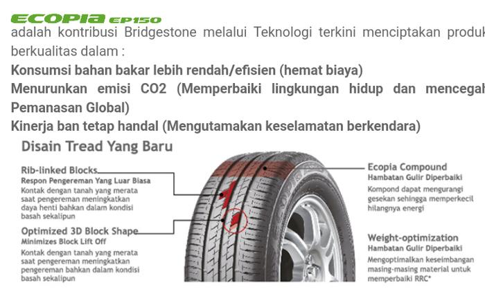 Best Seller Ban Mobil Bridgestone Ecopia EP150 205/65 R15 Tyre