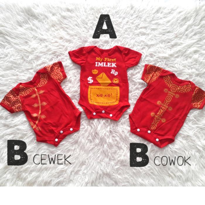 Diskon Terlaris Baju Jumper Imlek Anak Bayi Laki-Laki Perempuan Cheongsam Chinese Year