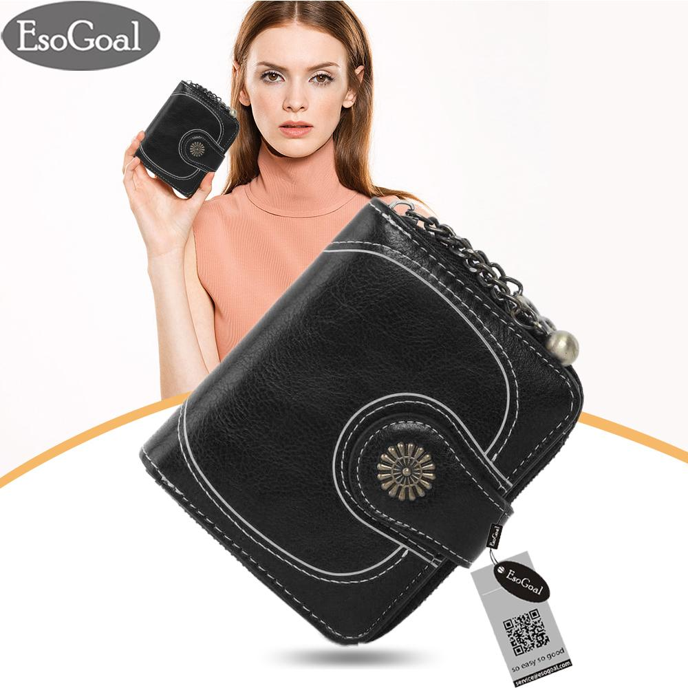 EsoGoal Dompet Wanita Dompet Kulit Wanita Clutch Dompet Mini Untuk Menyimpan Kartu Kredit