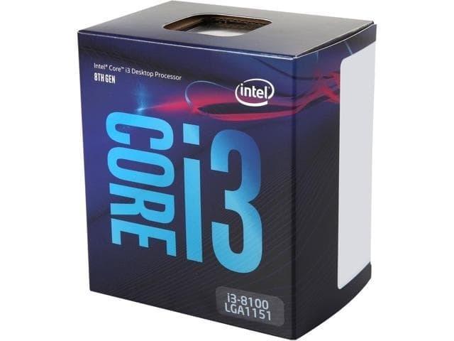 PROCESSOR Intel Core i3-8100 3.6Ghz - Cache 6MB [Box] Socket LGA 1151 - PROCESSOR I3 8100 COFFEE LAKE