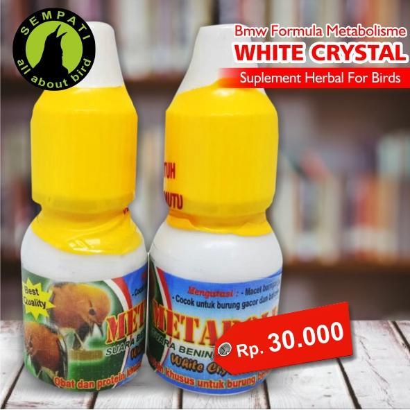 Metabolisme Master White Crystal BMW Obat Burung Sakit Macet Bunyi Metabolisme Bermasalah Tidak Stabil Drop Stress