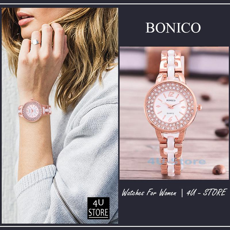 Rp 35.000. Bonico-Jam Tangan Fashion Wanita-81952-Imatation Ceramic Band ...