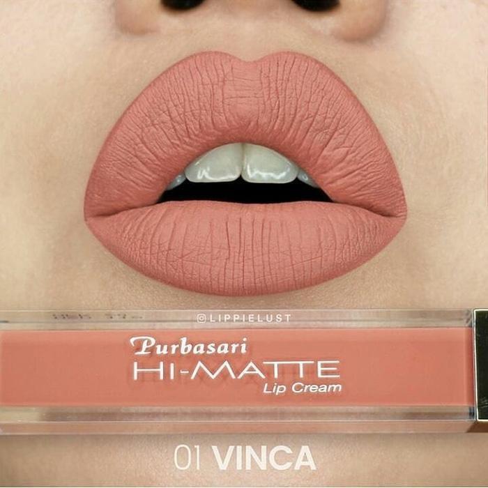 Purbasari Hi-matte Lip Cream - 01 Vinca