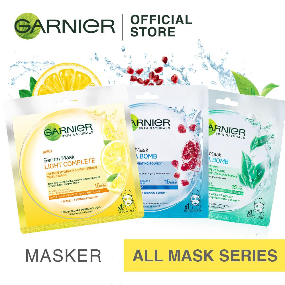 Bundle Garnier Buy 2 get 1 Serum Mask Hydra Bomb [Masker]